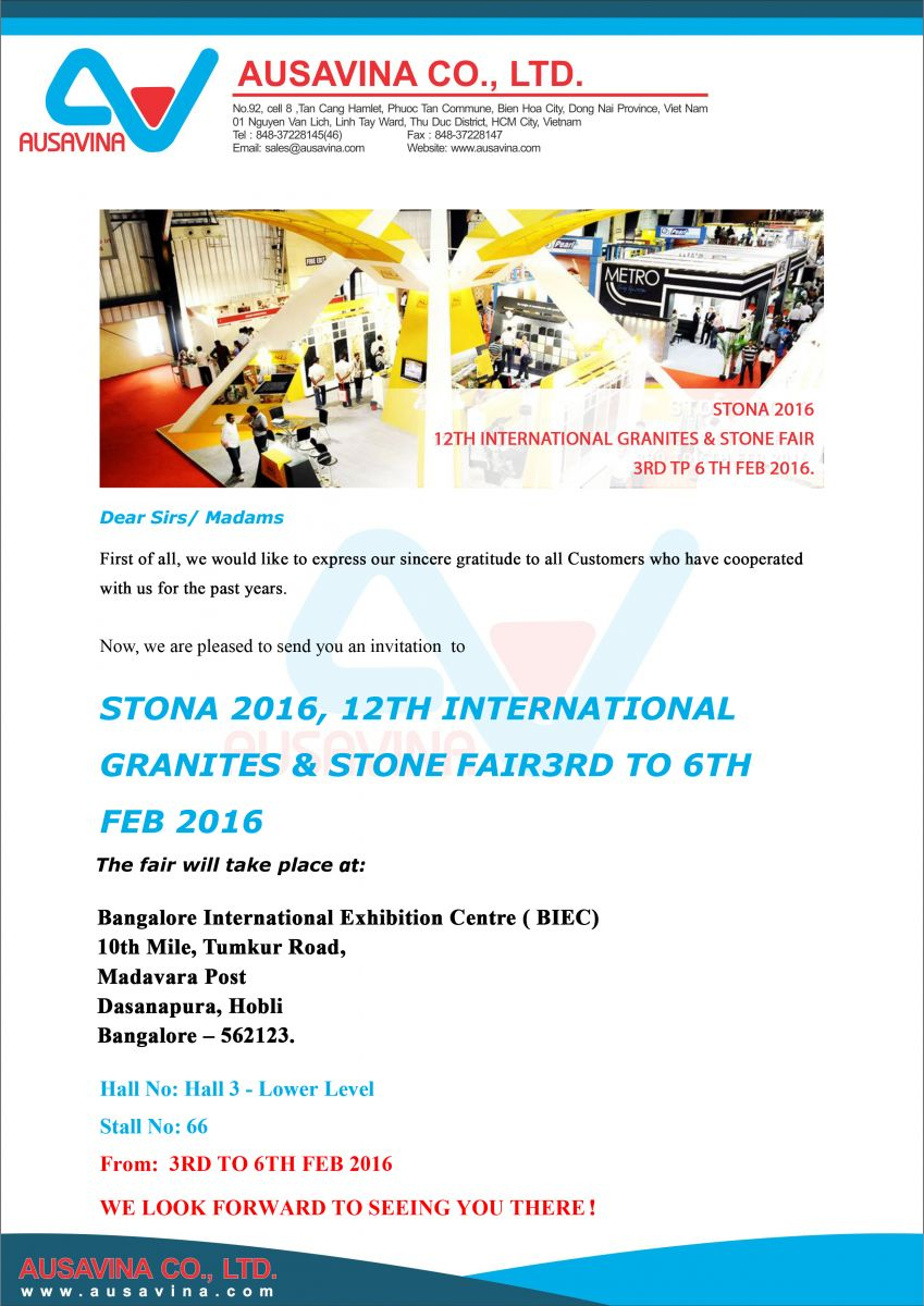 Ausavina will attend Stona exhibition 2016